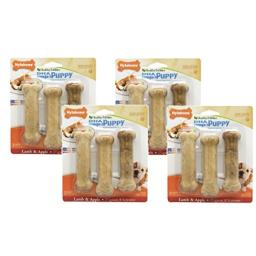 12-Count Nylabone Healthy Edibles Lamb and Apple Flavored Puppy Dog Treat Bones, Size Regular - (4 Packs with 3 per Pack)