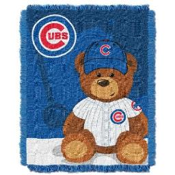 "The Northwest Company MLB Chicago Cubs Field Bear Woven Jacquard Baby Throw, 36"" x 46"