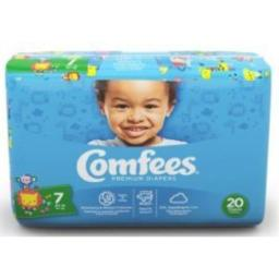 ATTENDS Baby Diaper Comfees Tab Closure Size 7 Disposable (#CMF-7, Sold Per Case)