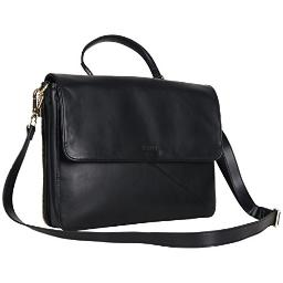 """Kenneth Cole Reaction Women's East Bay Babe Faux Leather Dual Compartment 15"""" Laptop Business Tote, Black"""