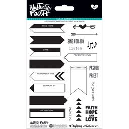 Bella Blvd Illustrated Faith  Basics Collection Clear Acrylic Stamps Icons