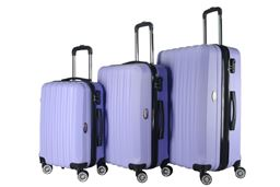 Brio Luggage Hardside Spinner Luggage Set #1600 - Light Purple