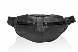 AFONiE Soft Leather Fanny Pack Waist Pouch