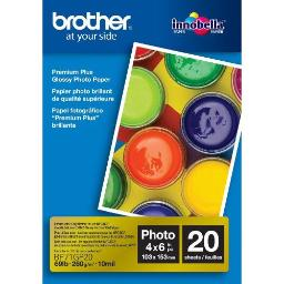 Brother international corporat bp71gp20 for ink-jets, 20 sheets, 4 x 6  for use with bp71gp20 high gloss paper