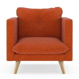 NyeKoncept 50180545 Pebble Weave Jace Armchair, Poppy Orange & Natural