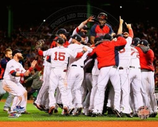 The Boston Red Sox celebrate winning Game Six of the 2013 World Series Sports Photo