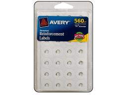 Avd6734 avery reinforcement labels white 560pc
