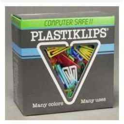 Plastiklips Paper Clips Medium Size 500 Pack ASSORTED Colors (LP-0300)
