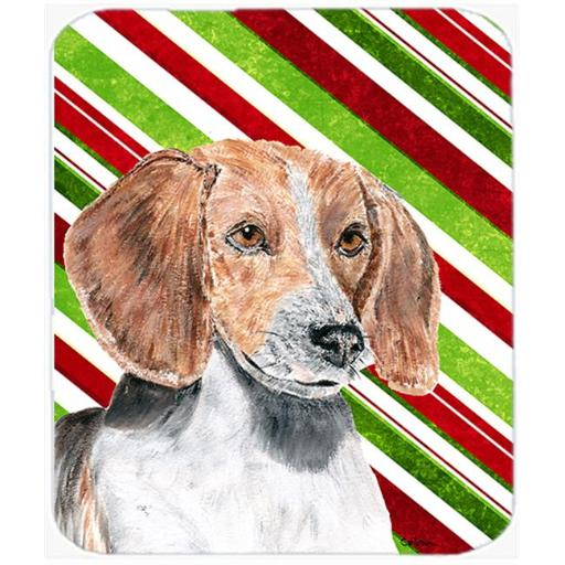 English Foxhound Candy Cane Christmas Mouse Pad, Hot Pad Or Trivet