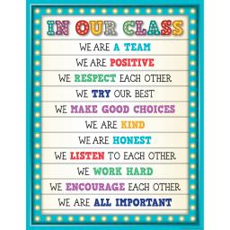 Teacher created resources marquee in our class chart 7528