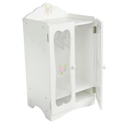 Teamson Design Corp TD-0209A Little Princess Doll Furniture - Classic Closet With Hangers, 18 in.
