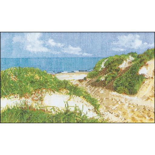 The Seashore On Aida Counted Cross Stitch Kit 7.75