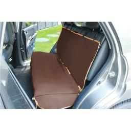 Open Road Mess Free Back Seat Safety Car Seat Cover Protector, Dark Brown - One Size