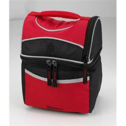 Coolpack 1859712 Vertical Design Double Compartment Insulated Lunch - Case Of 24