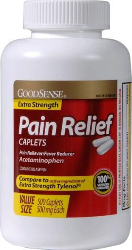 Goodsense® Goodsense&Reg; Extra Strength Pain Reliever Caplets 500Mg- 500 Count(Pack Of 12)
