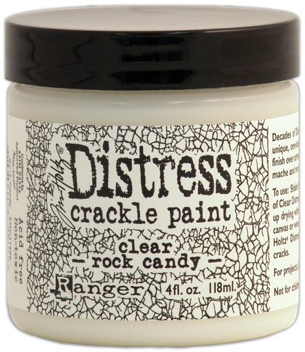 Distress Crackle Paint 4Oz-Clear Rock Candy