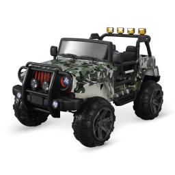 Kidzone 12V Battery Powered Ride On 2 Seater Toy Truck for Kids Ages 3-8 Years Old with Remote Controller, Camo