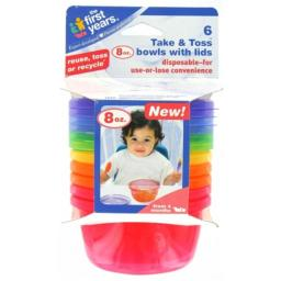 Rc2 Brand - First Years Y1032V 7 Count 8 Oz Take & Toss Bowls With Lids