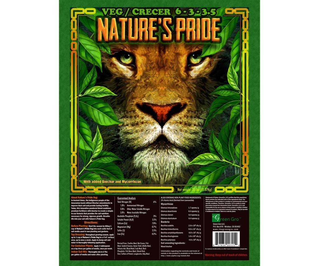 Nature's Pride Veg Fertilizer, 2000 lbs