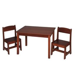 Gift Mark 3060C Childrens Rectangle Table with 2 Chair Set - Cherry