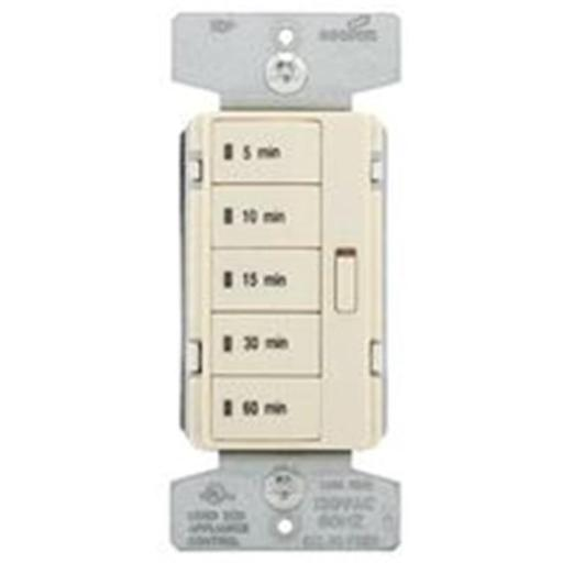 Cooper 8024036 5-Button Wall Switch Timer, Light Almond