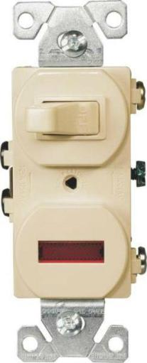Cooper Wiring 277v-box Single Pole Toggle Switch With Pilot Light, 15 Amp