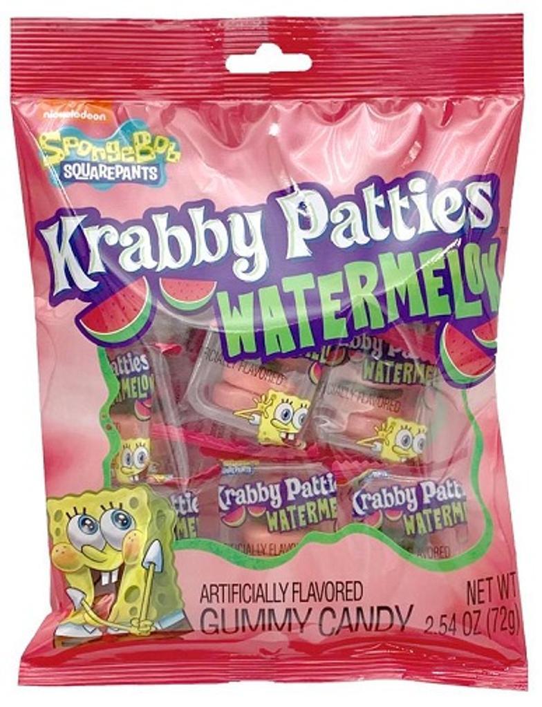 Spongebob Squarepants Krabby Patties Watermelon Gummy Candy