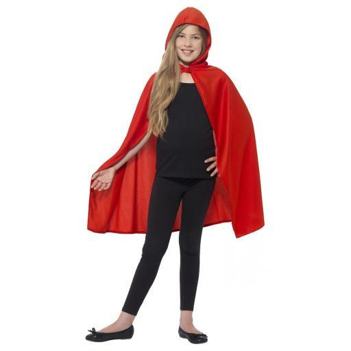 Child Red Hooded Cape Little Riding Hood Costume Cloak Girls Youth Storybook