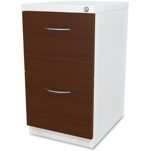 Lorell LLR34422 File Laminate Wood Mobile Pedestal - White