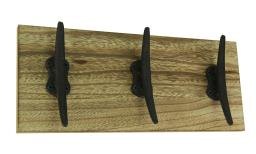 Rustic Nautical Triple Cast Iron Boat Cleat Wall Hook