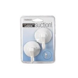 Interdesign 17601 Suction Cup Hook, White, Set Of 2