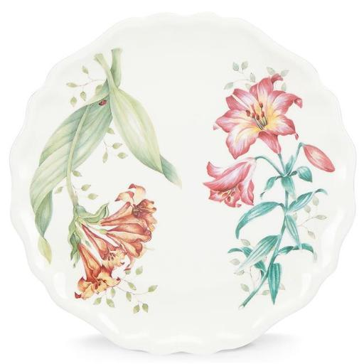 Lenox 855585 Butterfly Meadow Melamine Dinnerware Accent Plate, 3 mm x 9 dia.