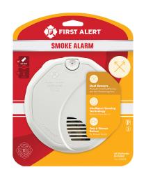 First Alert Battery-Powered Ionization/Photoelectric Dual Sensor Smoke Detector - Case Of: 1;