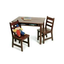 Lipper 534wn rect table chair set walnut