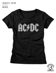 ACDC Music Patch Ladies Short Sleeve T Shirt