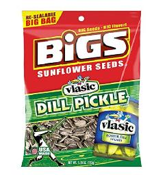 Bigs, Sunflower Seeds Dill Pickle - Bag, Count 12 (5.35 oz) - Sunflower Seeds/Grab Varieties & Flavors