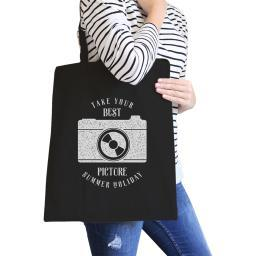Take Your Best Picture Summer Holiday Reusable Canvas Grocery Bag