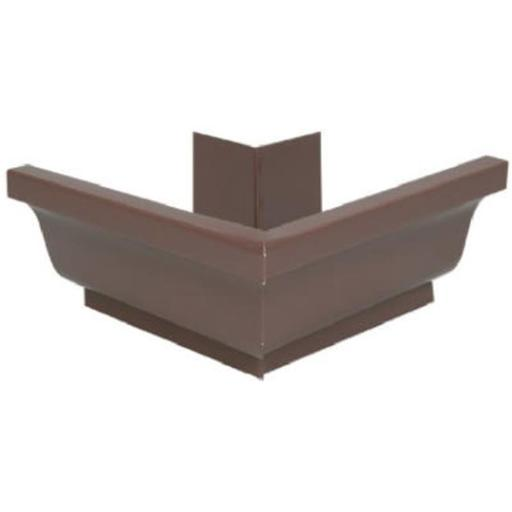 Amerimax Home Products 1920219 4 in. Brown Galvanized Steel Gutter Outside Mitre