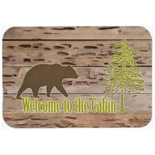 Carolines Treasures SB3081JCMT Welcome To The Cabin Kitchen Or Bath Mat 24 x 36 In.