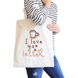 Love A Latte Natural Canvas Tote Tote For Best Friend Gifts
