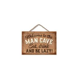 Highland woodcrafters  llc 7100021 4 25x6 25 man cave mini wood sign