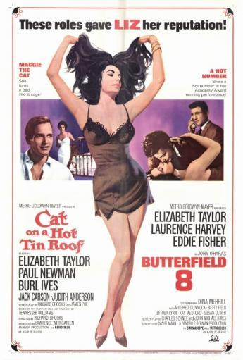 Cat on a Hot Tin Roof/Butterfield 8 Movie Poster Print (27 x 40)