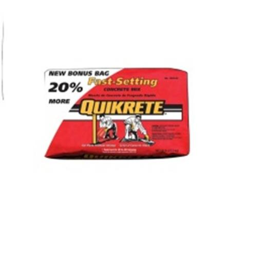 Quikrete 225110 60 lbs Fast Setting Concrete Mix Bonus Bag