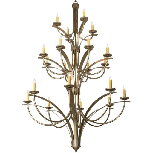 2nd Ave Lighting 202413-40 292 x 86 in. Corfe Chandelier, Champagne Toast - 20 Bulbs