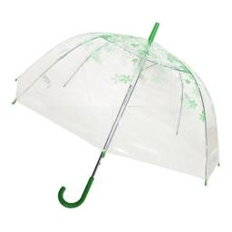 Conch Umbrellas 1260YH Green Trim Clear Umbrella, Green