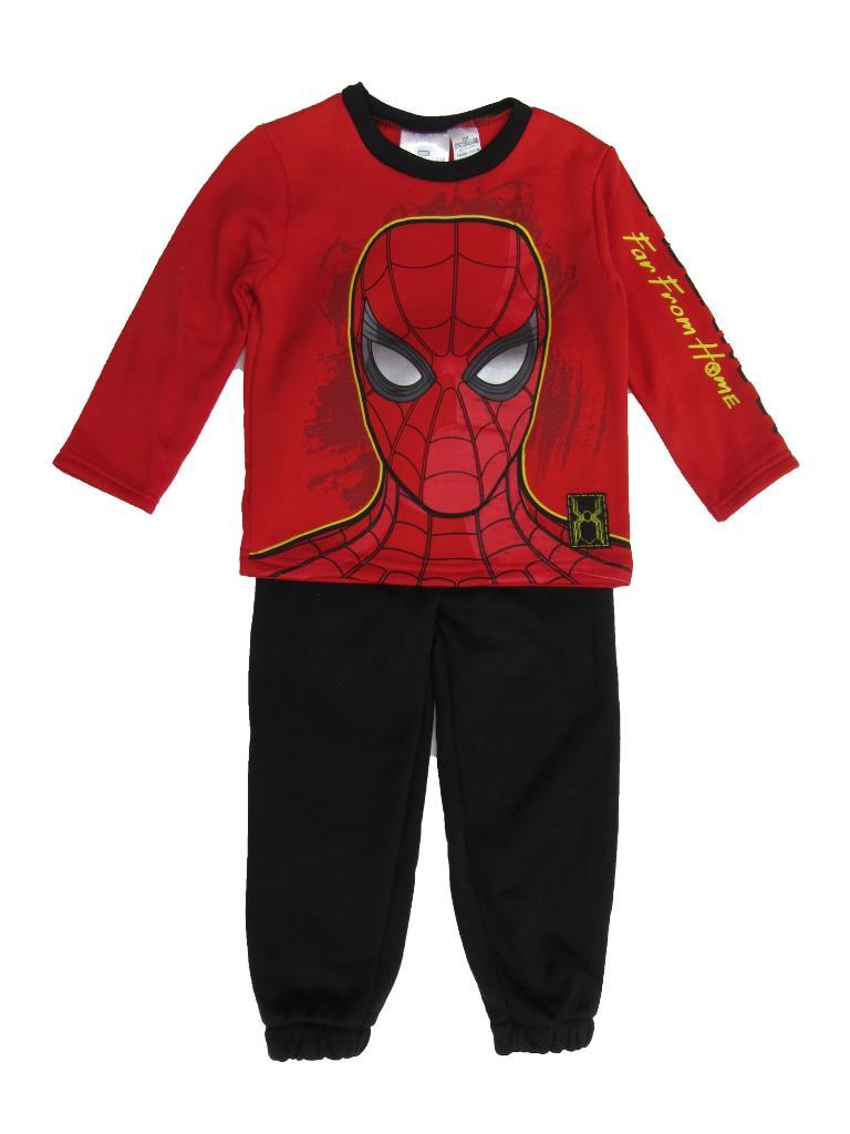 Marvel Little Boys Red Spiderman Far From Home Sweatshirt 2 Pc Jogger Set 2-4T