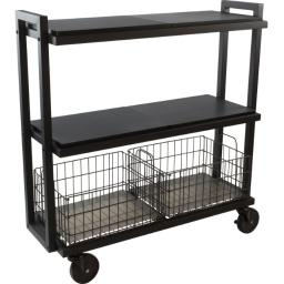 Atlantic-personal & portable 23350329 3tier wide black kart