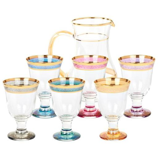 Lorenzo Import 9443 7 Piece Pitcher Set Melania Collection Multicolor