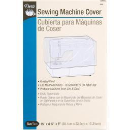 """Vinyl Sewing Machine Cover 15""""X8.75""""X6"""" Frosted"""