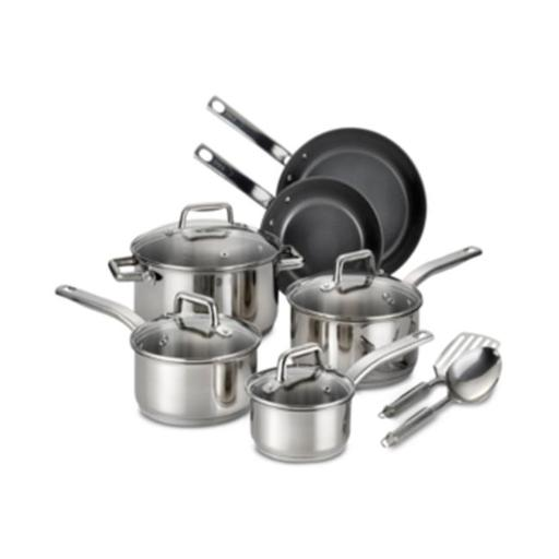 Precision Stainless Steel & Ceramic Cookware Set - 12 Piece
